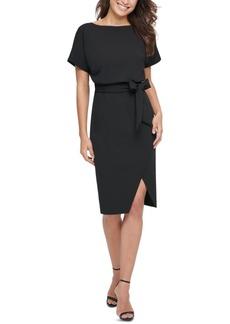 kensie Blouson Wrap Dress