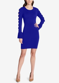 kensie Bow-Sleeve Sweater Dress
