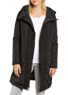 kensie Button Side Quilted Jacket