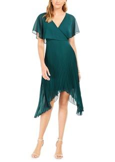 kensie Chiffon Pleated Dress