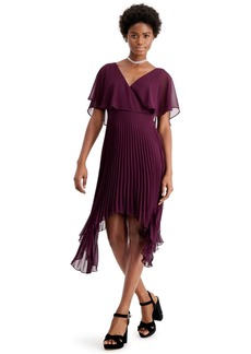kensie Chiffon Pleated Dress