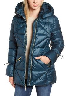 kensie Cinched Sleeve Puffer Jacket