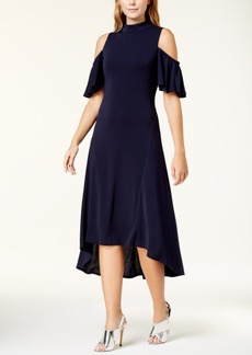 kensie Cold-Shoulder Midi Dress