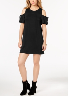 kensie Cold-Shoulder Shift Dress