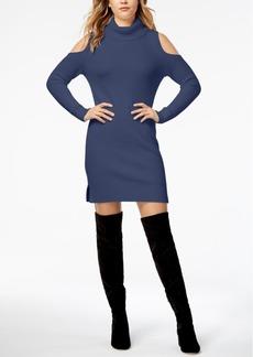 kensie Cold-Shoulder Sweater Dress