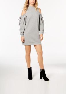 kensie Cold-Shoulder Sweatshirt Dress
