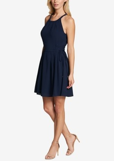 kensie Corset Fit & Flare Dress
