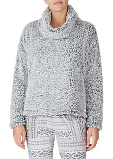 Kensie Cowl-Neck Faux Fur Pajama Sweater