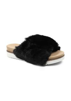 kensie Daine Faux Fur Slide Slipper (Women)