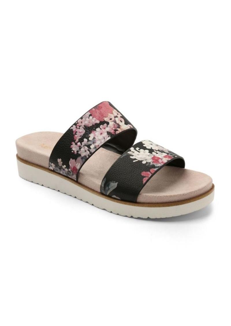kensie kensie dominic floral slides shoes
