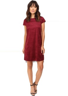 Drapey Faux Suede Dress KS9K7131