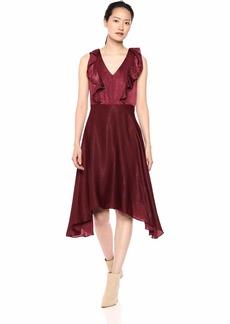 kensie Dress Women's Hammered SATING MIDI Dress