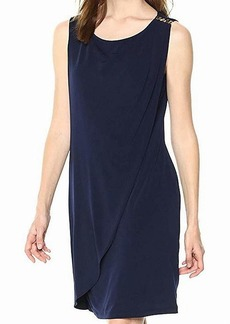 kensie Dress Women's ITY Dress with Gold GROMENTS