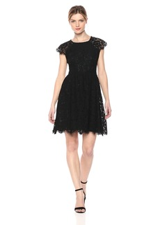 kensie Dress Women's LACE Cap Sleeve Dress