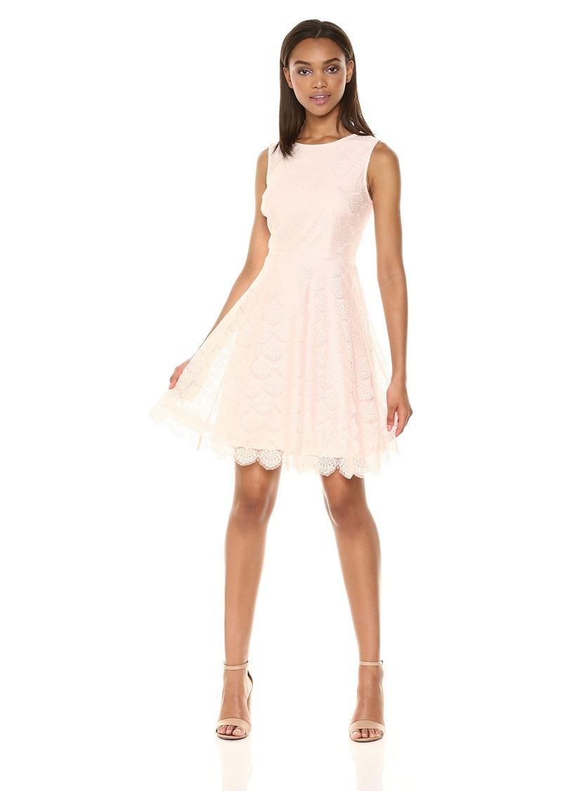 kensie Dress Women's LACE Skater Dress