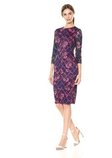 kensie Dress Women's MIDI Floral LACE Dress