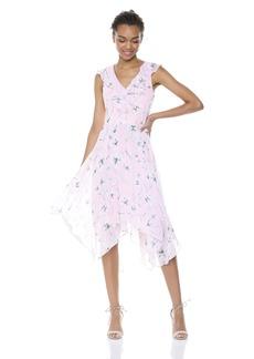 kensie Dress Women's Midi Floral Printed Dress