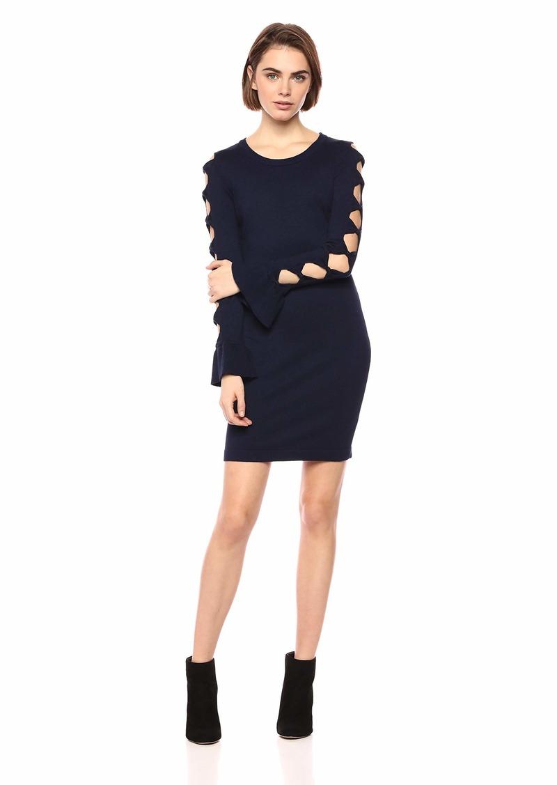 kensie Dress Women's Sweater Bow Dress  M