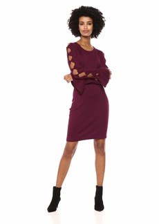 kensie Dress Women's Sweater Bow  M
