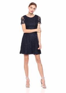 kensie Dress Women's Two Tone Lace Dress