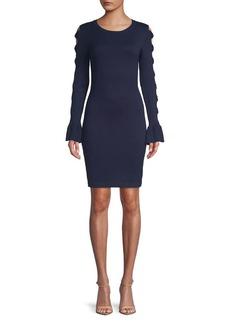 Kensie Dresses Bell-Sleeve Bodycon Dress