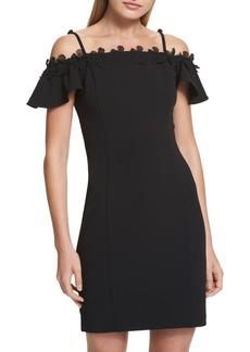 Kensie Dresses Cold-Shoulder Sheath Dress