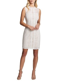 Kensie Dresses Embroidered Lace Sheath Dress