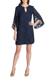 Kensie Dresses Lace Flare Sleeve Shift Dress
