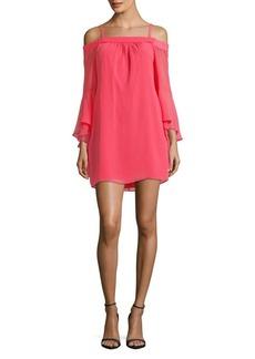 Kensie Dresses Off-The-Shoulder Bell-Sleeve Shift Dress