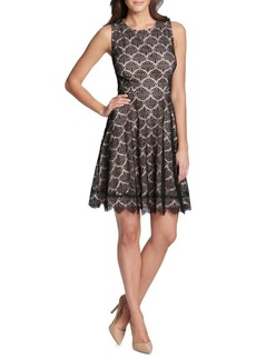 Kensie Dresses Scalloped Lace Mini Dress