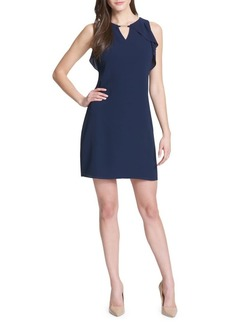 Kensie Dresses Sleeveless Ruffle Trim A-Line Dress