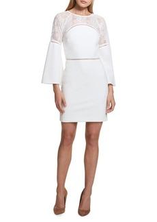 Kensie Dresses Three Quarter- Sleeve Lace Sheath Dress