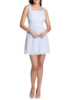 Kensie Dresses Tie-Strap Cotton Dress