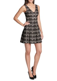 Kensie Dresses V-Back Lace Dress