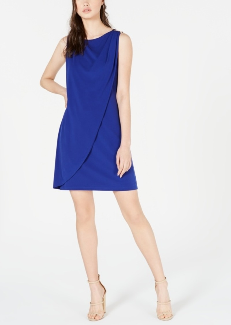 kensie Embellished Overlay Shift Dress