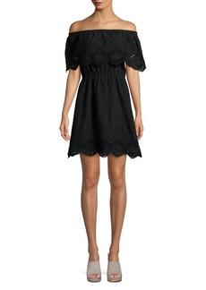 Kensie Emey Off-the-Shoulder Cotton Dress