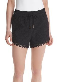 Kensie® Eyelet Dot Shorts