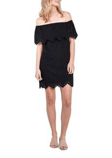 Kensie Eyelet Lace Off-the-Shoulder Dress
