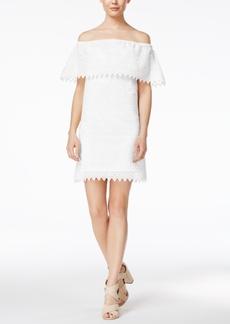 kensie Eyelet Off-The-Shoulder Dress
