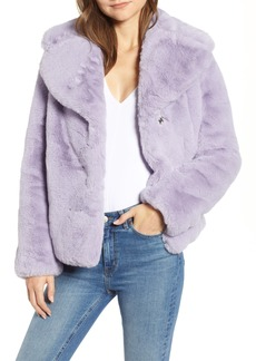kensie Faux Fur Chubby Coat