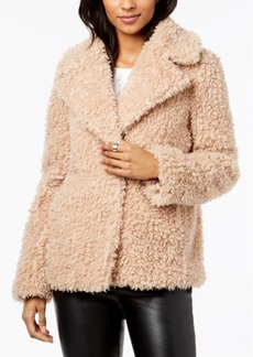 kensie Faux-Fur Chubby Teddy Coat