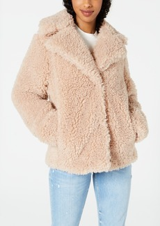 kensie Faux-Fur Teddy Coat