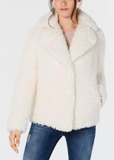 kensie Faux-Fur Teddy Coat