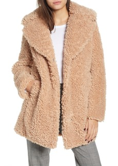 kensie Faux Shearling Coat