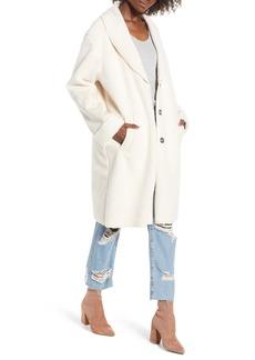 kensie Faux Shearling Long Coat