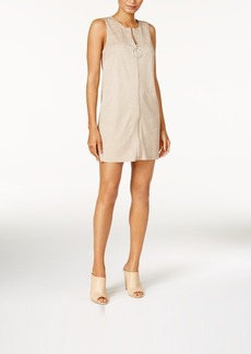 kensie Faux-Suede Convertible Vest Dress