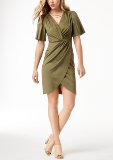kensie Faux-Suede Twist-Detail Dress