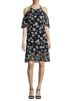 Kensie Floral Halterneck Shift Dress