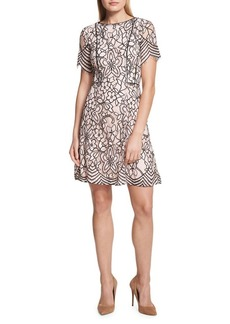 Kensie Dresses Floral Lace A-Line Dress