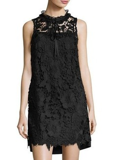 kensie Floral Lace Sleeveless Shift Dress